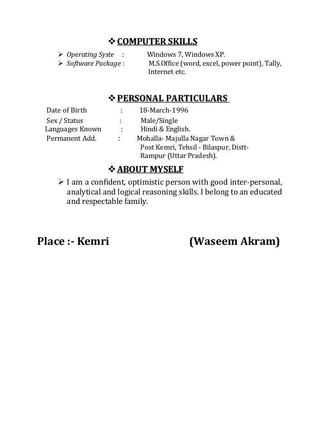 Waseem Akram Resume