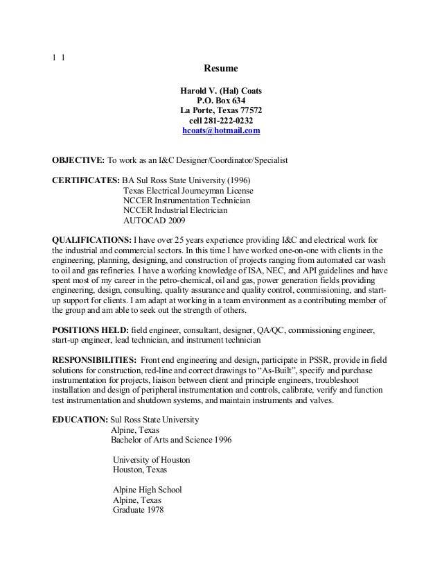 new i u0026c resume