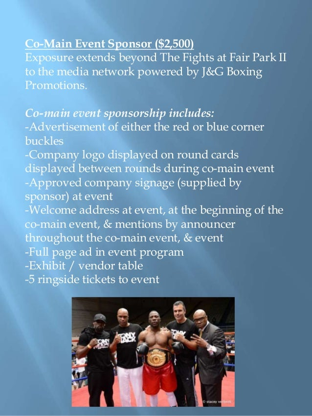 j u0026g boxing sponsorship proposal