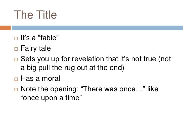 a fable for tomorrow This lesson will feature the first chapter, a fable for tomorrow, which can be  previewed online (tip: do a search on the chapter title to find the full text, which  is.