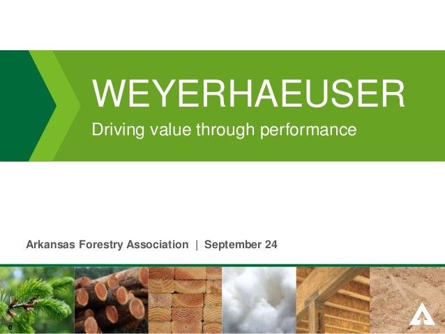 Weyerhaeuser CEO President Doyle Simons's Presentation