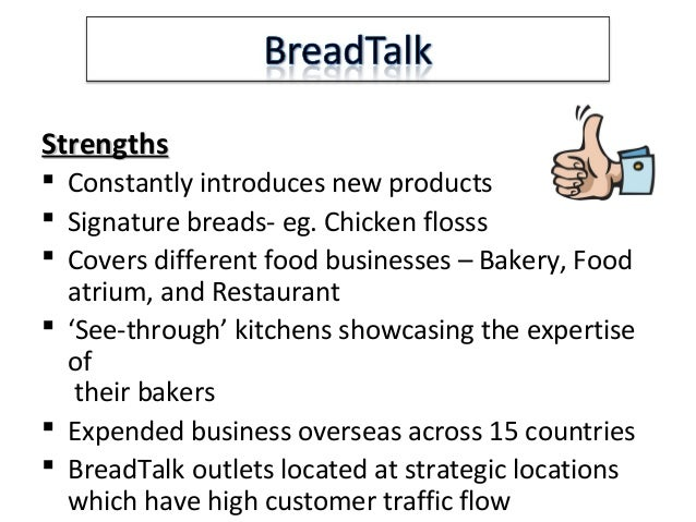 swot for old chang kee This is a presentation regarding breadtalk and old chang kee\'s financial  position  background information & swot analysis 5 breadtalk.