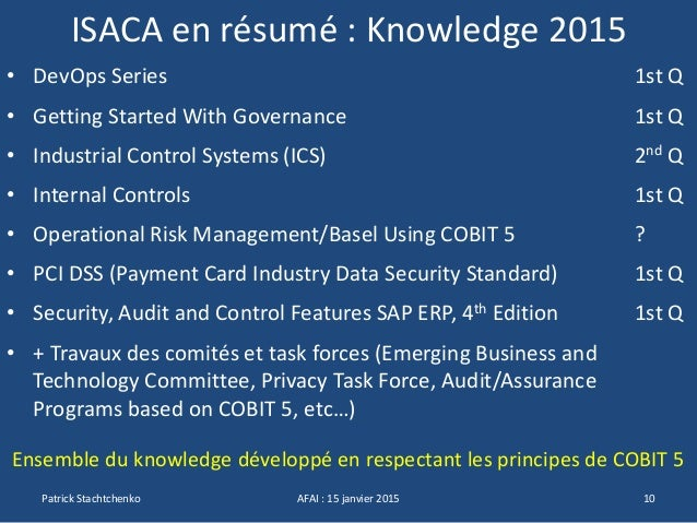 Stratégie ISACA - AG AFAI