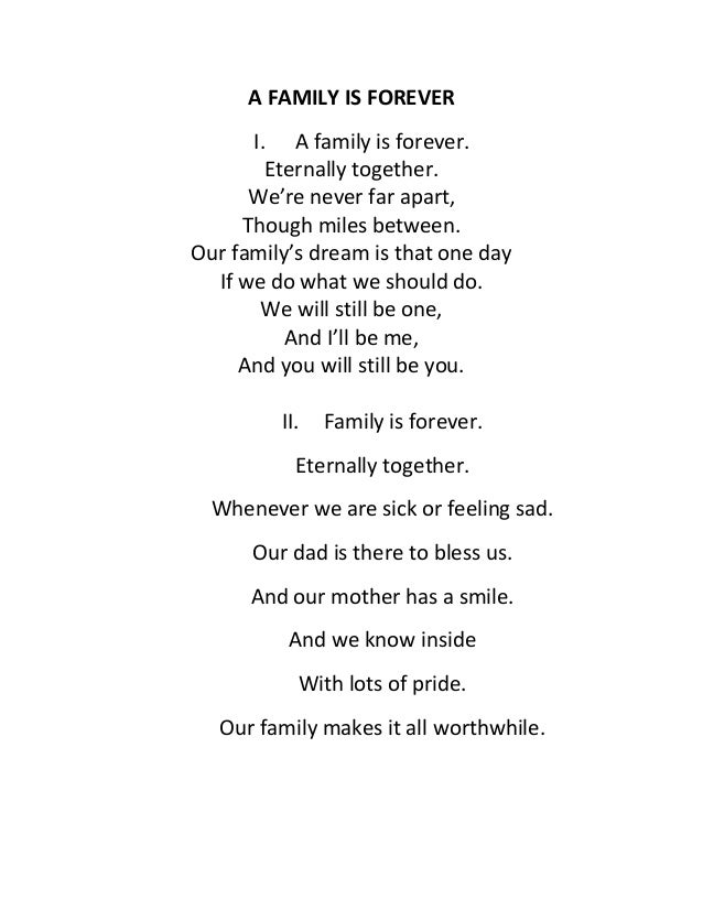 A Family Is Forever