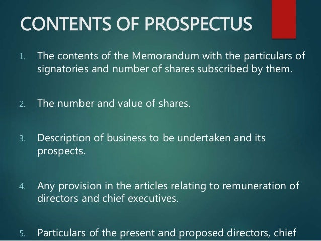 dating of prospectus companies act 2013