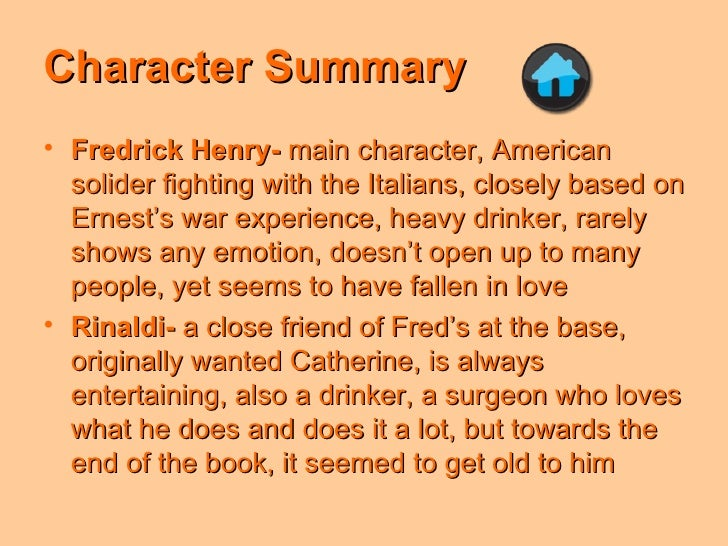 Farewell to arms book 1 summary