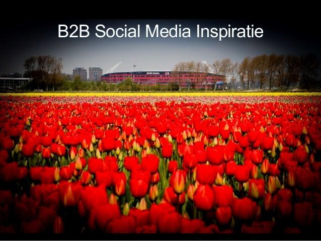 B2B Social Media Inspiratie