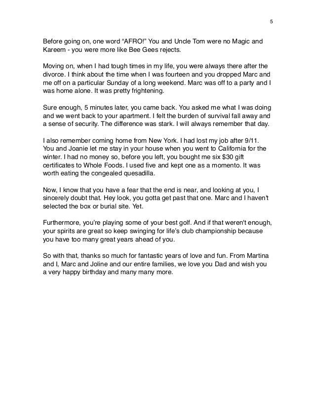 21st birthday speech template