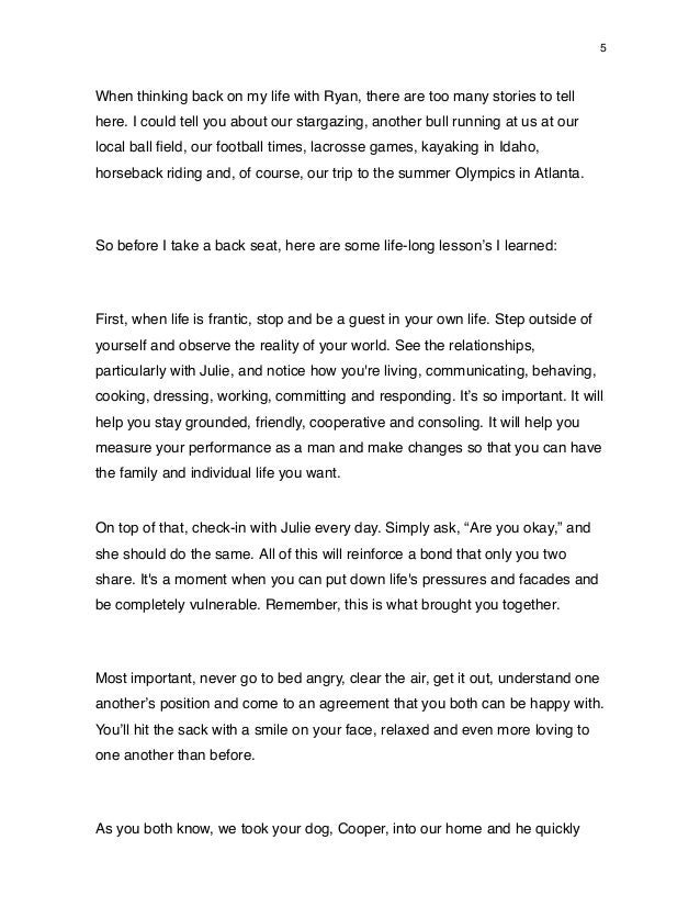 A Father To Son Rehearsal Dinner Speech