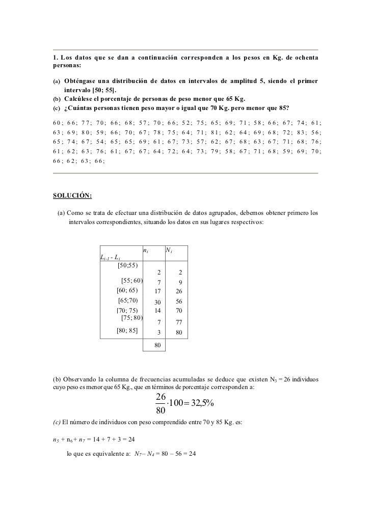 Ejercicios Resueltos de Estadística: Slide 2