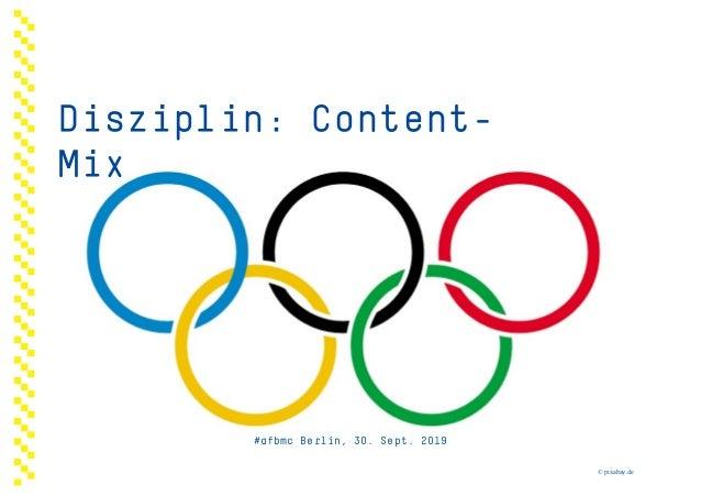 Disziplin: Content- Mix #afbmc Berlin, 30. Sept. 2019 © pixabay.de