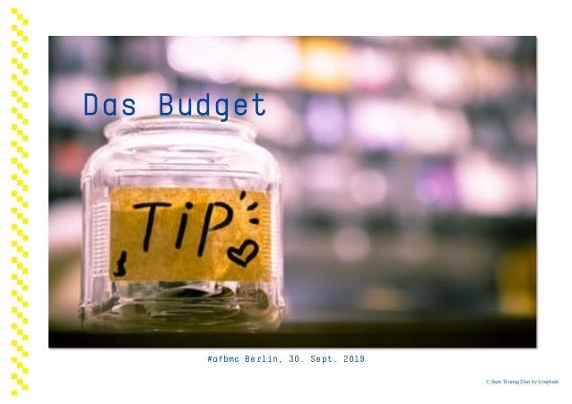 Die HürdenDas Budget #afbmc Berlin, 30. Sept. 2019 © Sam Truong Dan by Unsplash