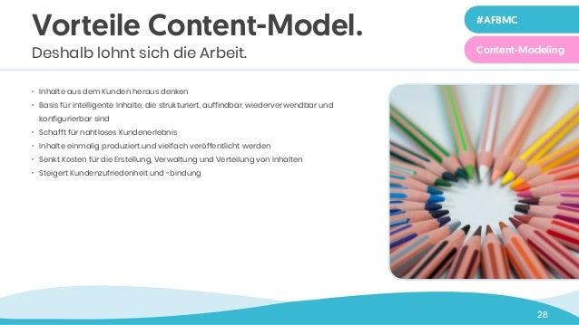 Zeile 1 in 40 pt 28 • Inhalte aus dem Kunden heraus denken • Basis für intelligente Inhalte, die strukturiert, auffindbar,...