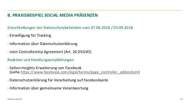 MENOLD BEZLER Entschließungen der Datenschutzbehörden vom 07.06.2018 / 05.09.2018 § Einwilligung für Tracking § Informatio...