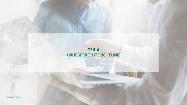 MENOLD BEZLER TEIL 4 URHEBERRECHTSRICHTLINIE