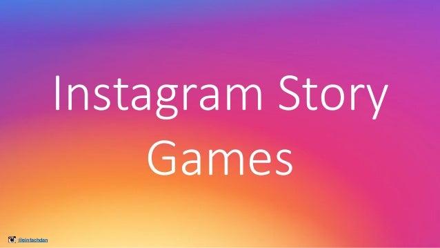 @einfachdan InstagramStory Games
