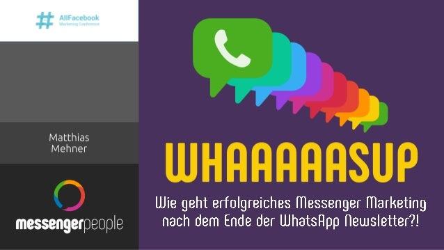 ▪ Seit Sommer 2017 bei MessengerPeople, SaaS Lösung für professionelle Messenger Services – WhatsApp, Facebook, Apple und ...