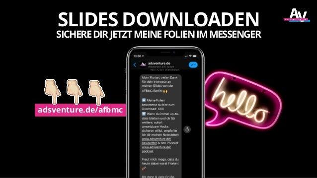 adsventure.de/afbmc SLIDES DOWNLOADEN SICHEREDIRJETZTMEINEFOLIENIMMESSENGER