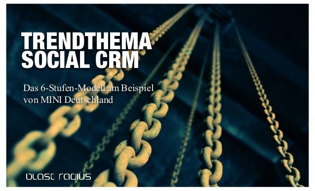 1 TRENDTHEMA SOCIAL CRM Das 6-Stufen-Modell am Beispiel von MINI Deutschland