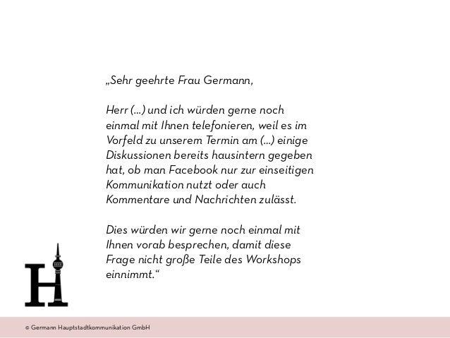 """© Amt 2.0 Akademie www.amtzweinull.com © Germann Hauptstadtkommunikation GmbH """"Sehr geehrte Frau Germann,  Herr (…) und i..."""