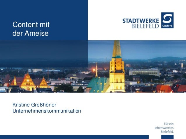 Content mit der Ameise Kristine Greßhöner Unternehmenskommunikation