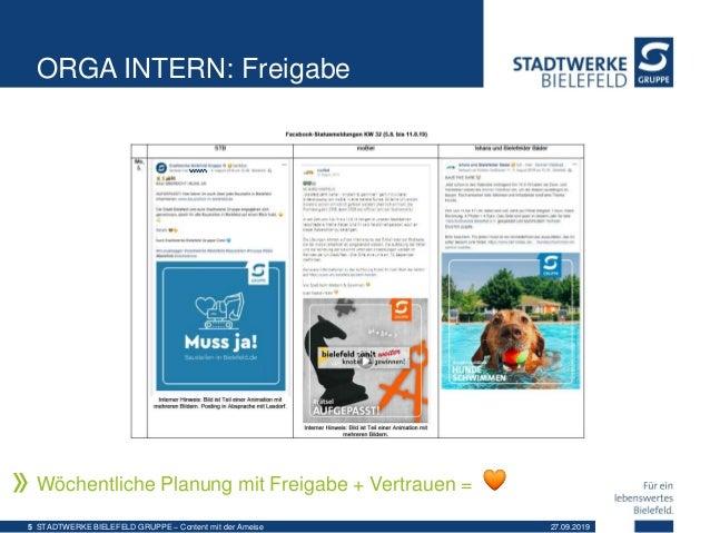 ORGA INTERN: Freigabe Wöchentliche Planung mit Freigabe + Vertrauen = 27.09.2019STADTWERKE BIELEFELD GRUPPE – Content mit ...