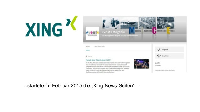 Don't forget to XING – das Businessnetzwerk im Social-Media–Mix #afbmc Slide 3