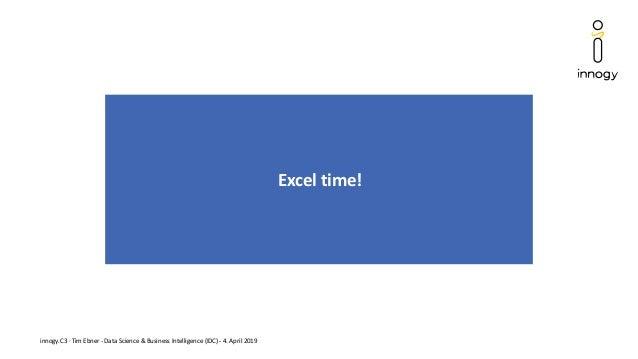 innogy.C3 · Tim Ebner - Data Science & Business Intelligence (IDC) - 4. April 2019 Excel time!
