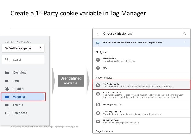 AllFacebook Advance · Power FB Pixel with Google Tag Manager · Rahul Agarwal Create a 1st Party cookie variable in Tag Man...
