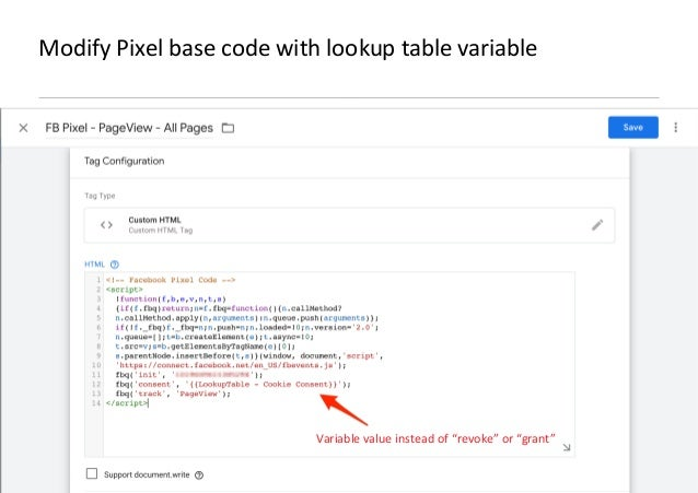 AllFacebook Advance · Power FB Pixel with Google Tag Manager · Rahul Agarwal Modify Pixel base code with lookup table vari...