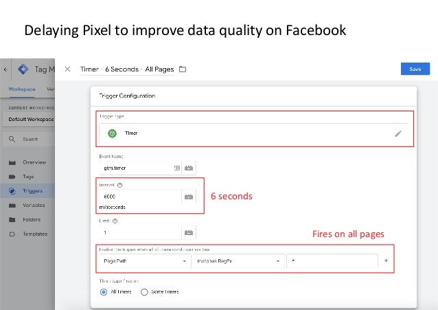 AllFacebook Advance · Power FB Pixel with Google Tag Manager · Rahul Agarwal Delaying Pixel to improve data quality on Fac...