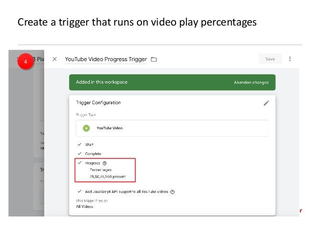 AllFacebook Advance · Power FB Pixel with Google Tag Manager · Rahul Agarwal Create a trigger that runs on video play perc...