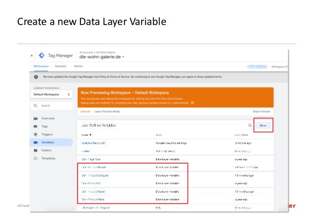 AllFacebook Advance · Power FB Pixel with Google Tag Manager · Rahul Agarwal Create a new Data Layer Variable