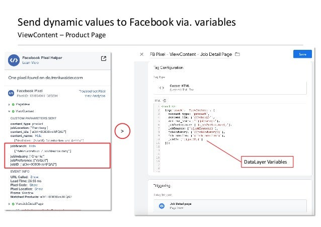 AllFacebook Advance · Power FB Pixel with Google Tag Manager · Rahul Agarwal Send dynamic values to Facebook via. variable...