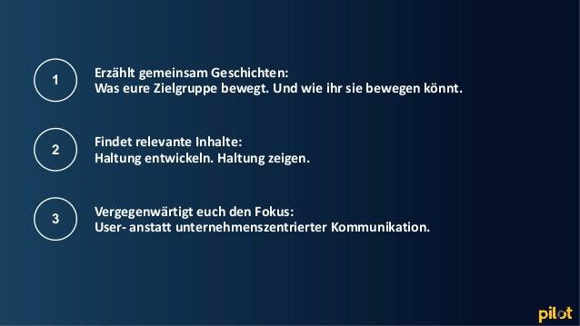 Hamburg Erzählt gemeinsam Geschichten: Was eure Zielgruppe bewegt. Und wie ihr sie bewegen könnt. 1 Findet relevante Inhal...