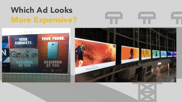 Which Ad Looks More Expensive?