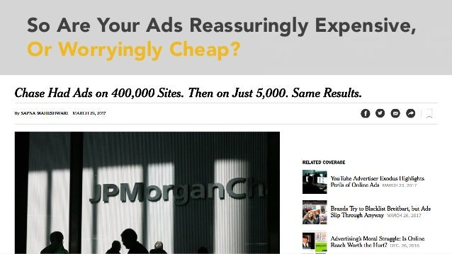 So Are Your Ads Reassuringly Expensive, Or Worryingly Cheap?