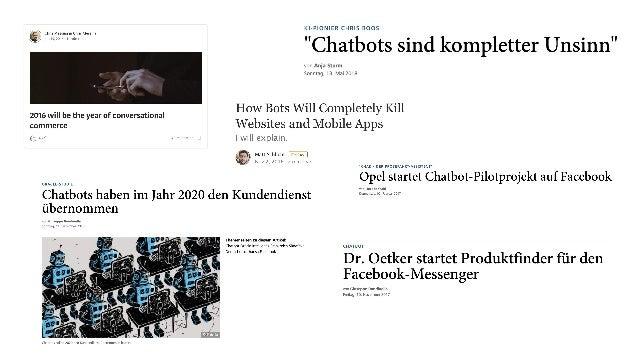 Bot-Hype in den Unternehmen Chatbots sind hip! KI ist das next big thing!