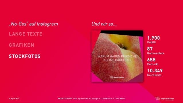 2. April 2019 BRAIN CONTENT - Die experimenta auf Instagram   Lea Wilhelm u. Timo Haberl Und wir so... 👊 LANGE TEXTE STOCK...