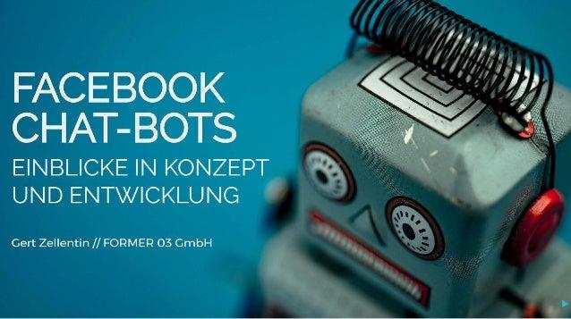 Facebook Chat-Bots: Einblicke in Konzeption & Entwicklung #AFBMC