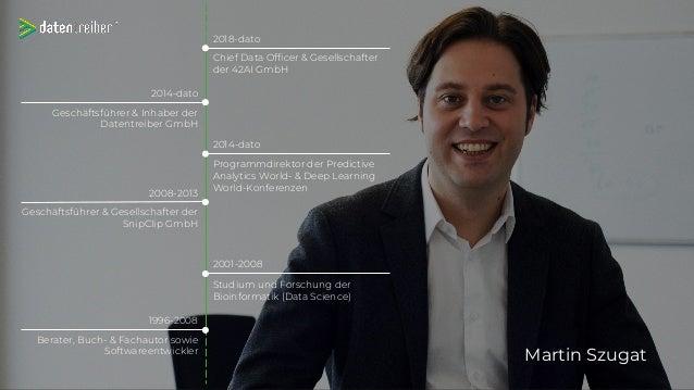 Martin Szugat 1996-2008 Berater, Buch- & Fachautor sowie Softwareentwickler Studium und Forschung der Bioinformatik (Data ...