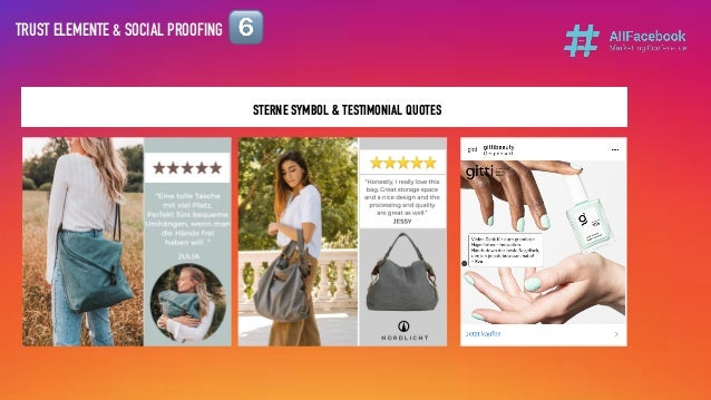 TRUST ELEMENTE & SOCIAL PROOFING STERNE SYMBOL & TESTIMONIAL QUOTES