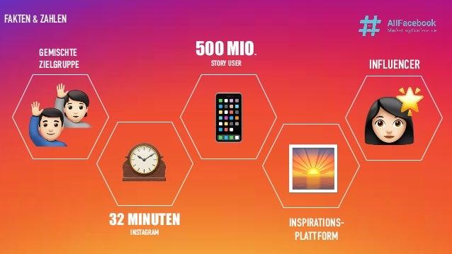 32 MINUTEN INSTAGRAM 500 MIO. STORY USER INSPIRATIONS- PLATTFORM FAKTEN & ZAHLEN GEMISCHTE ZIELGRUPPE INFLUENCER