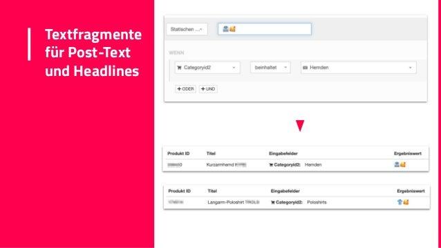 Textfragmente für Post-Text und Headlines