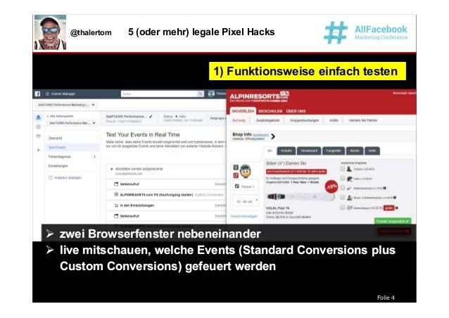 Folie 4 @thalertom 5 (oder mehr) legale Pixel Hacks 1) Funktionsweise einfach testen1) Funktionsweise einfach testen  zwe...