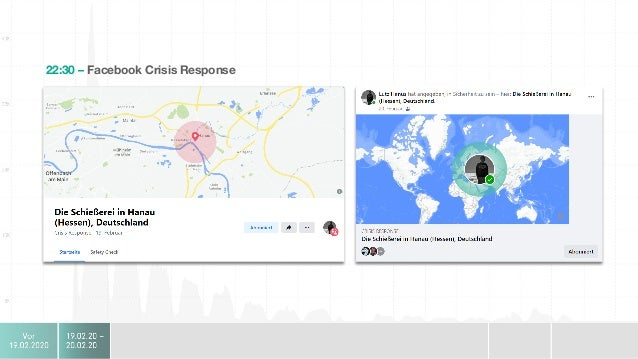 Hanau Intern Social Media • 04:30 Erste Organisatorische  Schritte eingeleitet • Auswahl Personen für den Krisenstab