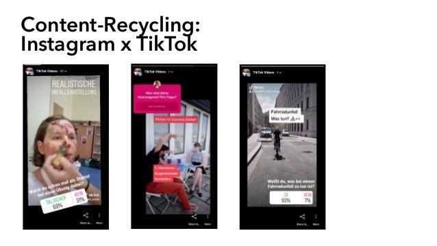 Content-Recycling: Instagram x TikTok