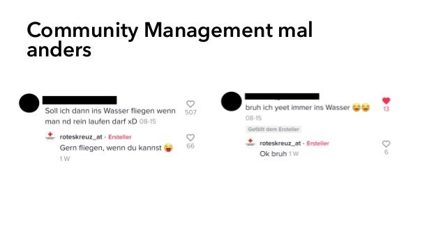 Community Management mal anders