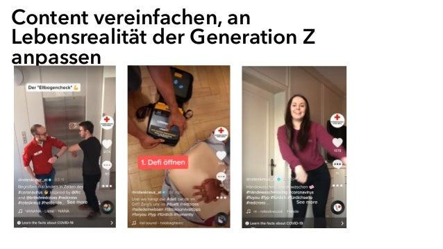 Content vereinfachen, an Lebensrealität der Generation Z anpassen
