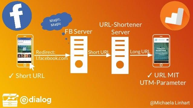 @Michaela Linhart ✓ Short URL Redirect: l.facebook.com FB Server Magic, Magic ✓ URL MIT UTM-Parameter Short URL URL-Shorte...